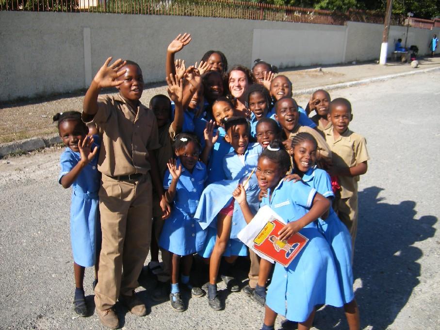 Schoolkinderen Jamaica