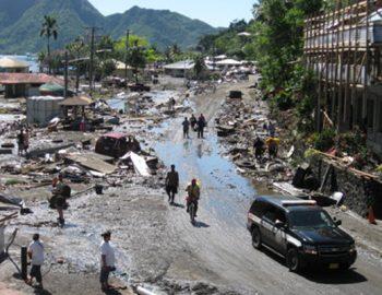 Aardbeving Samoa veroorzaakt tsunami