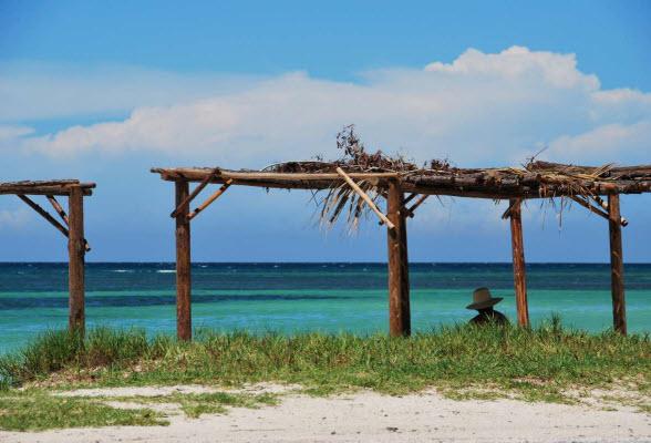 Uitzicht over de Caribische Zee vanaf Cayo Jutia, Cuba