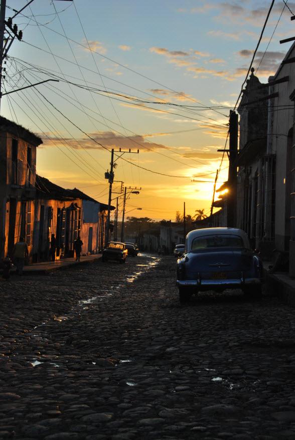 Zonsondergang in het prachtige Trinidad, Cuba