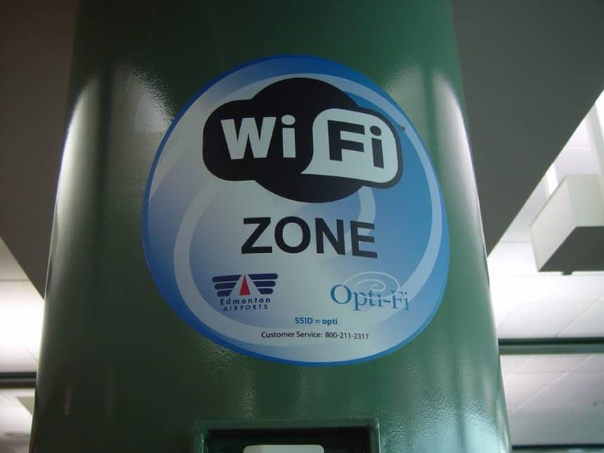 Vliegvelden met WiFi