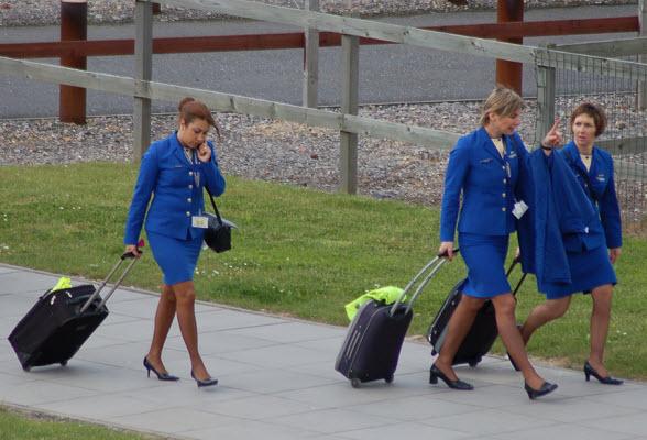 Ryanair-stewardessen