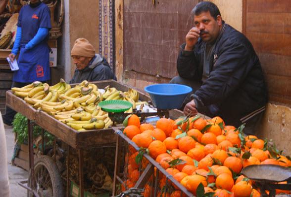 Banenen en sinaasappels uit Fez