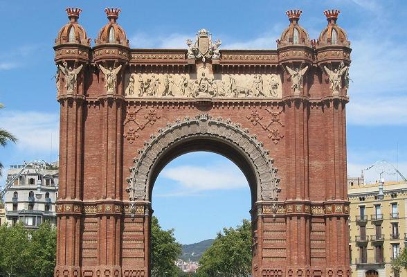 De Arc de Triomf in Barcelona
