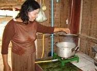 Koken op biogas in Cambodja