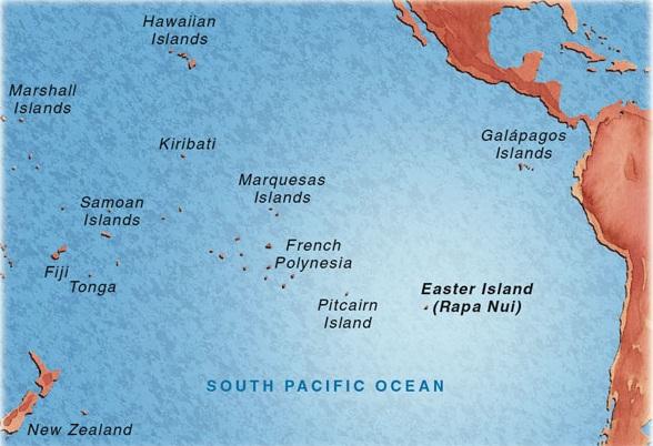 Lokatie van Paaseiland
