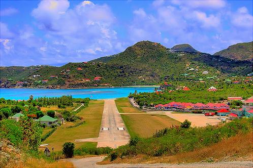Gustaf III Airport, St. Barts, Caribbean