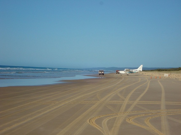 Fraser Island Airport, Orchid Beach, Australië