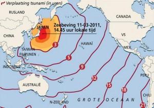 Tsunami-waarschuwing voor alle landen aan de Grote Oceaan