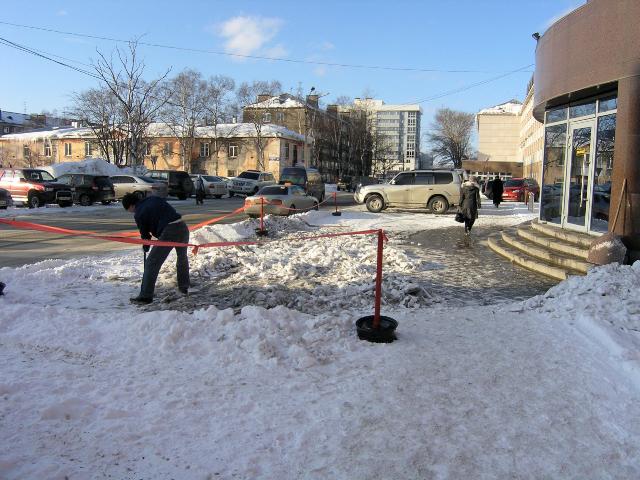 Typisch Russisch: ijs weghakken