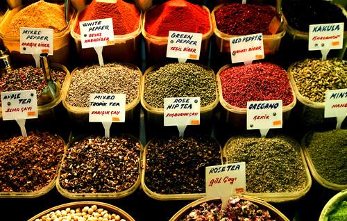 Kruiden op de Grand Bazaar, Istanbul