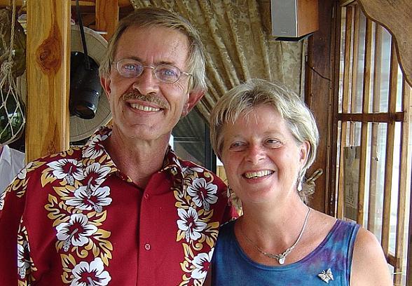Otto en Anja Geesink in Costa Rica