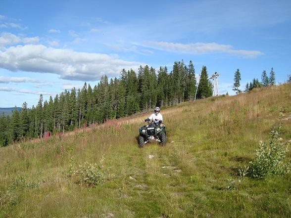 Daarna was het gedaan met de rust, omdat we gingen quad rijden.