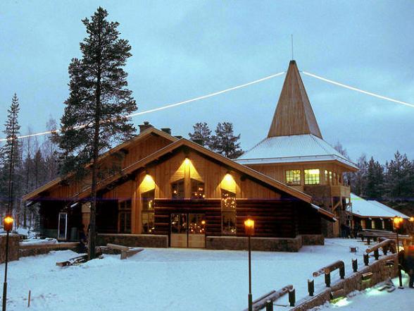 Het huis van de kerstman in Lapland.