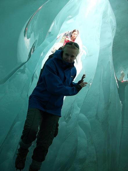 IJsgrot op de Franz Josef gletsjer