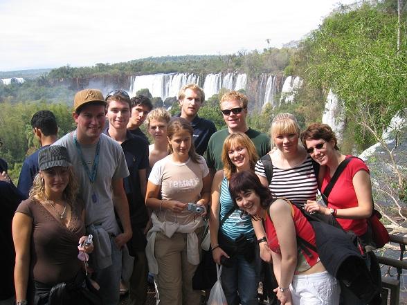 Group at Iguazu Falls