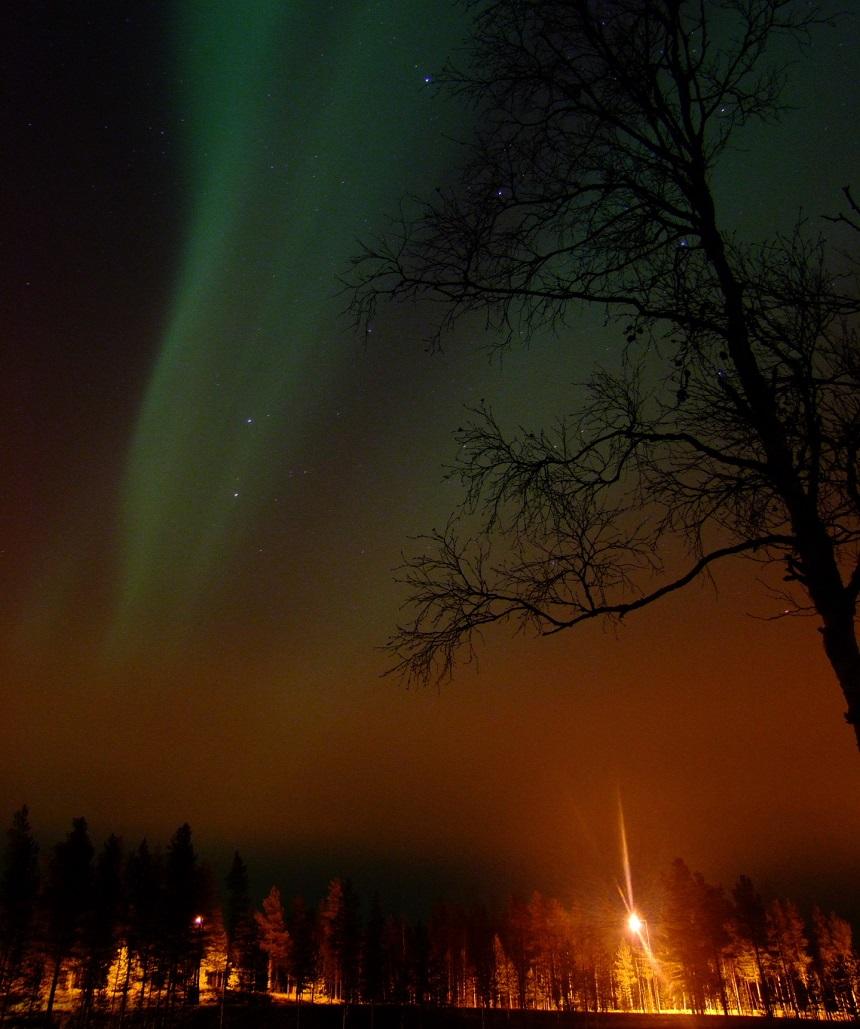 Noorderlichtfoto Salla - Fins Lapland - B.Art Braafhart, 31.10.11
