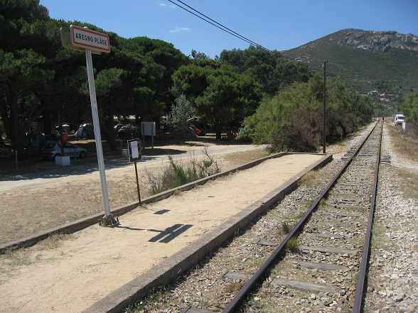 Treinstation Aregno Plage, Algajola