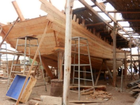 Dhows van dik hout