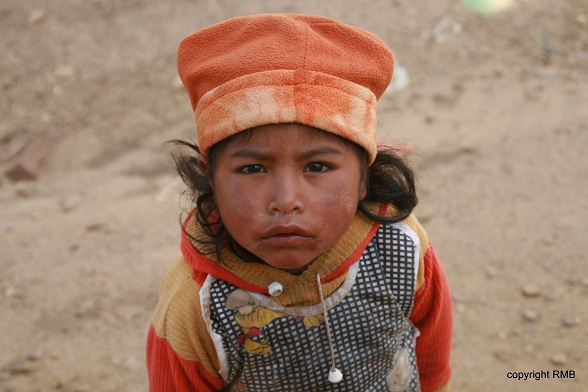 Een meisje in Chili