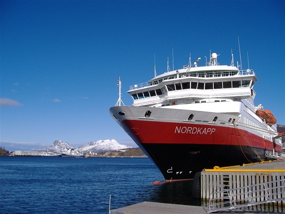 Hurtigruten docking in Bodø