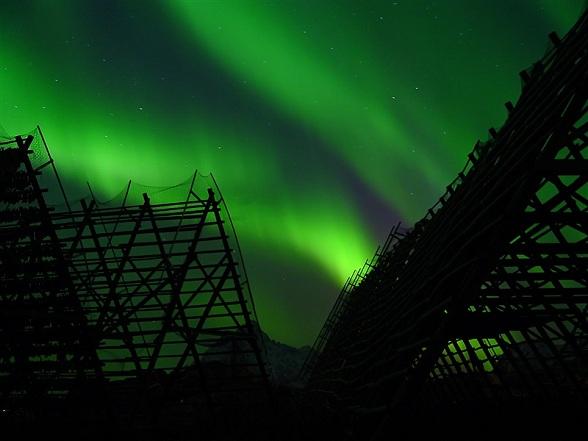 Noorderlicht boven Svolvaer