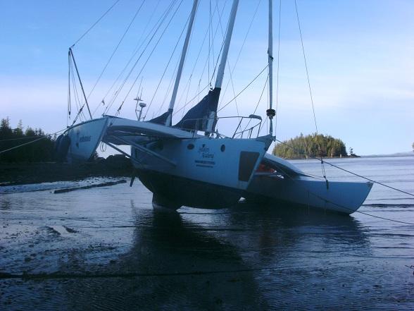 Juniper valt droog in Humpback Bay