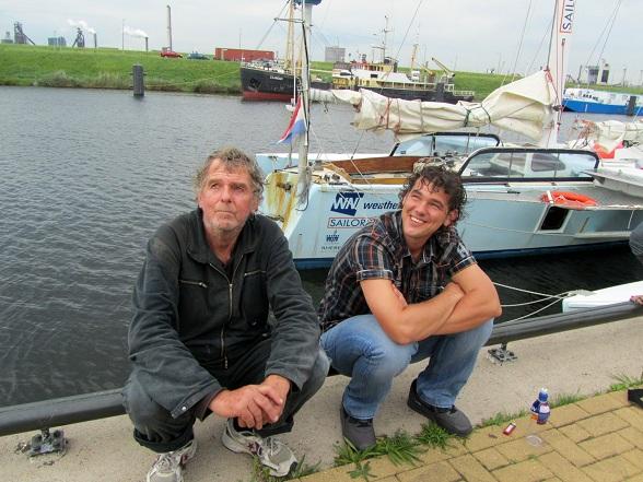 Met Stefan na binnenkomst