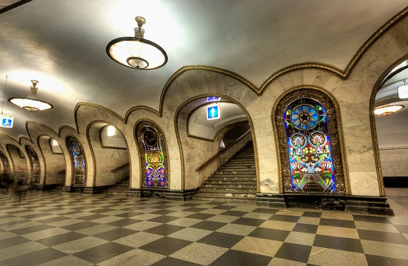 Novoslobodskaja metrostation Moskou