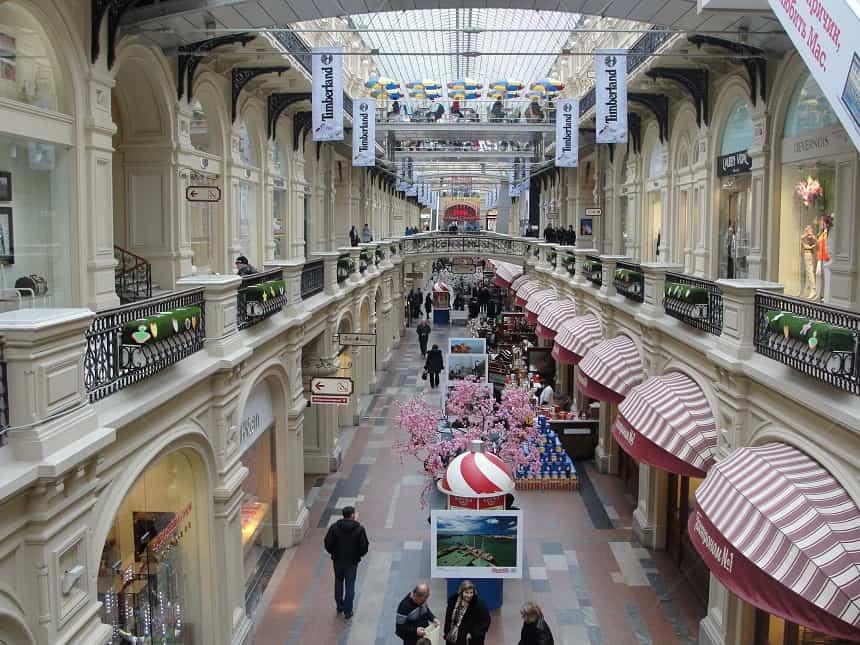 winkelcentrum Gum in Moskou