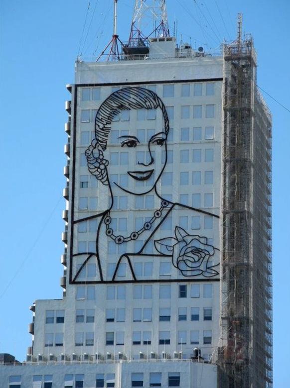 Evita Peronop een gebouw in downtown