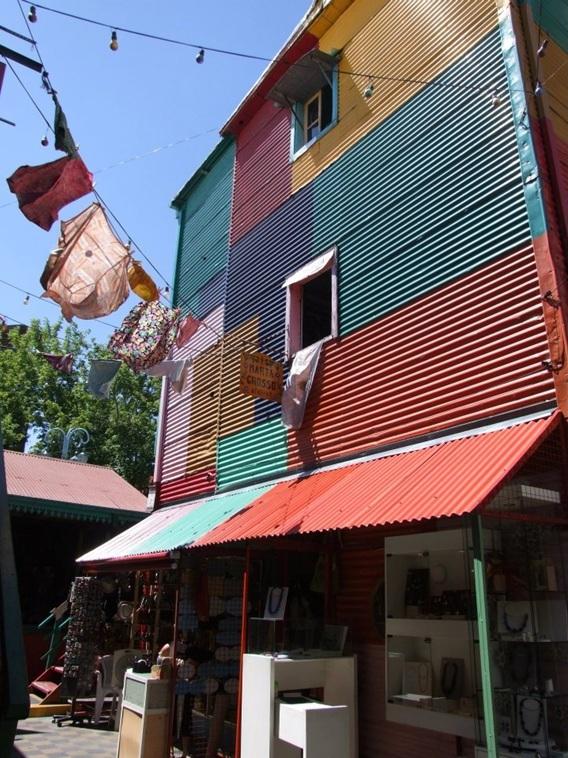 Huisje in La Boca, de arbeiderswijk van Buenos Aires