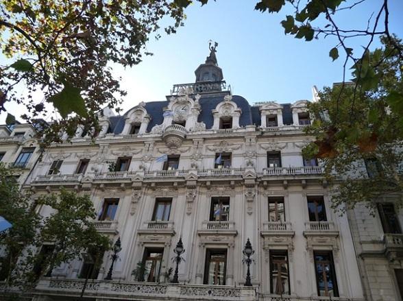 Koloniaal gebouw in Buenos Aires