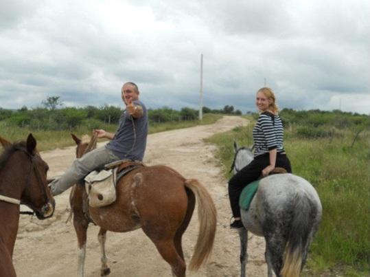 Een paardrijritje in Carloz Paz, in de buurt van Cordoba, inclusief gekke gaucho gids