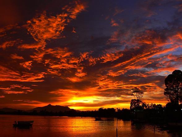 zonsondergang Borneo Maleisie