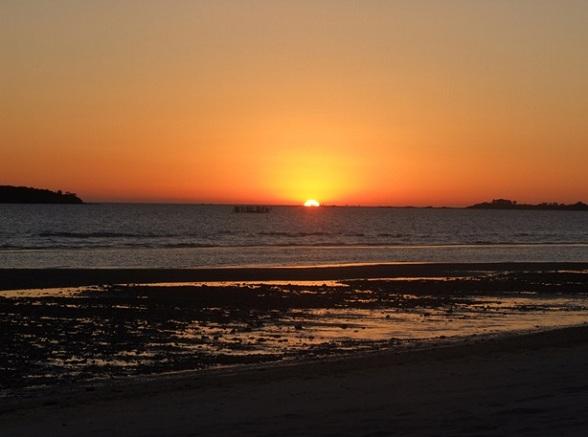 Een van de prachtige zonsondergangen waar Uruguay bekend om staat