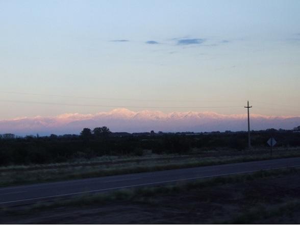 Zonsopkomst bij Mendoza