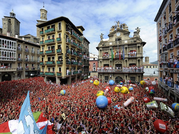 De San Ferminfeesten in Pamplona