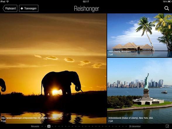 Reishonger op de iPad