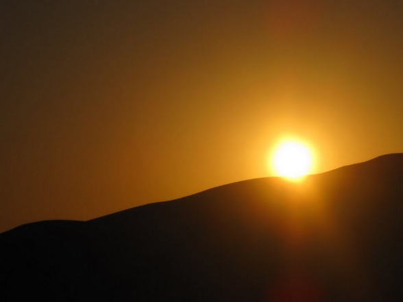 Zonsondergang Sahara