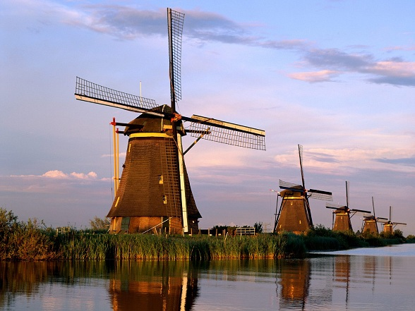 Kinderdijk in Nederland
