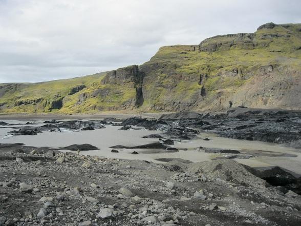 Meertje bij Solheimajökull
