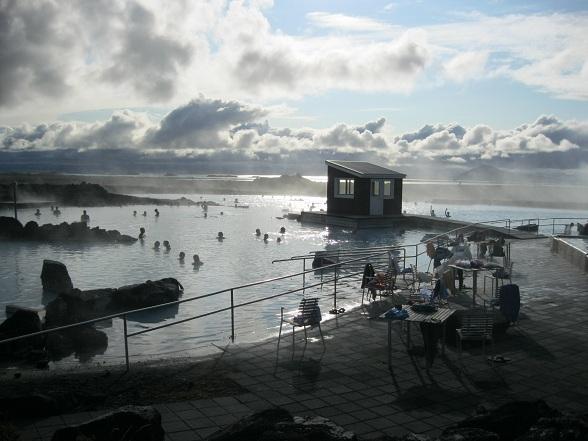 Het op één na bekendste warmwaterbad van IJsland ligt in Mývatn, in het noorden van het land