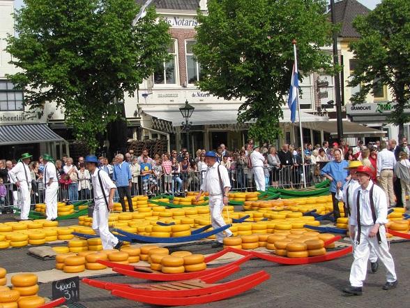 De kaasmarkt van Alkmaar
