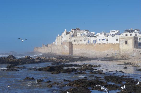 De Medina gezien vanaf de haven