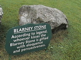 Blarney Stone: the stone of eloquence