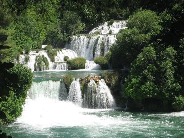 De watervallen van Krka