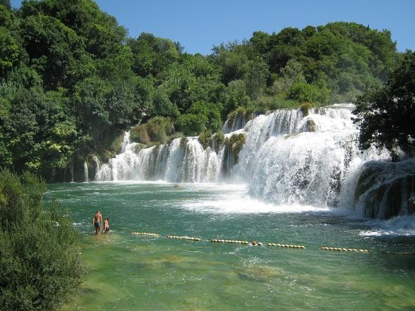 Zwemmen bij de Krka watervallen