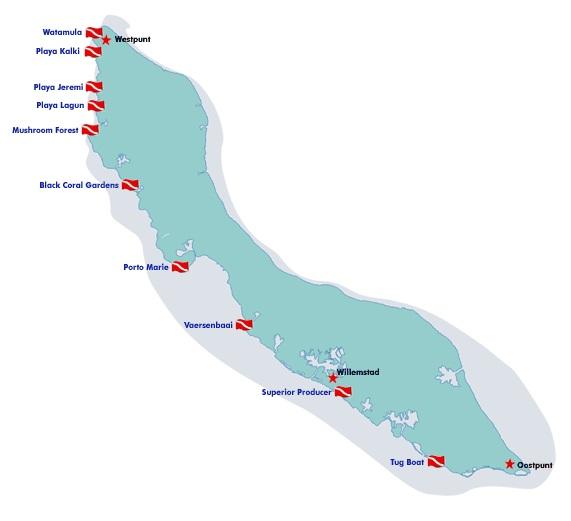 Top 5 duikstekken Curaçao