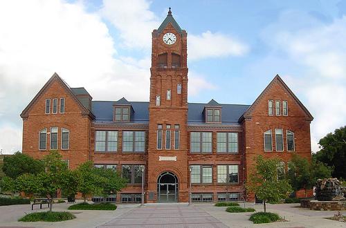 Het universiteits gebouw
